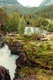 Gudbrandsjuvet klyfta i Norge Arkivfoton