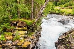 Gudbrandsjuvet klyfta i Norge Royaltyfri Fotografi
