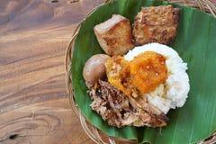 Gudeg Manggar is een traditioneel voedsel van Yogyakarta royalty-vrije stock afbeelding