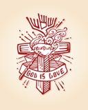 Guden är förälskelse b Arkivfoton