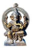 Guden Ganesh brons skulptur arkivbilder