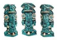 guden isolerade den mayan mexico statyn Royaltyfri Fotografi