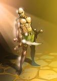 guden kriger royaltyfria foton