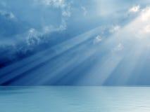 guden rays underbart Fotografering för Bildbyråer