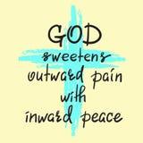 Guden sötar smärtar yttre med inre fred vektor illustrationer