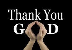 guden tackar dig Royaltyfri Fotografi