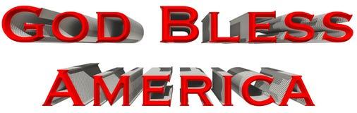 Guden välsignar den Amerika 3D illustrationen Arkivfoton