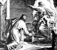 Guden visar Abraham Stars Arkivbild