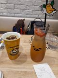 Gudetama Cafe Singapore Coffee and Juice Royalty Free Stock Photos