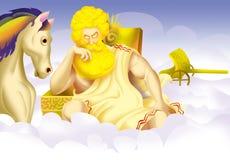 gudhelios royaltyfri illustrationer
