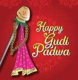 Фестиваль Индия Gudhi Padwa Нового Года стоковые фотографии rf
