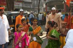 Gudhipadva festival celebration-II Royalty Free Stock Images