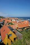 Gudhjem, Bornholm,丹麦 免版税库存照片