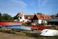 Gudhjem on Bornholm Island, Denmark Stock Images