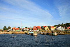 Gudhjem on Bornholm Island, Denmark Royalty Free Stock Photos