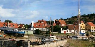 Gudhjem on Bornholm Island, Denmark Stock Photography