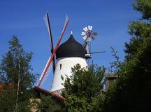 Gudhjem Windmill, Bornholm, Denmark Stock Images