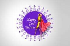 Gudi Padwa马拉地语新年 免版税库存照片