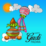 Gudi Padwa illustration stock