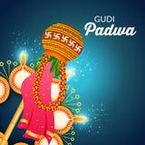 Gudi Padwa illustration de vecteur