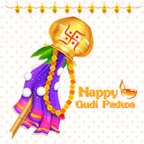 Gudi Padwa celebration of India Stock Images