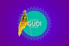Gudi Padwa Marathi nowy rok obraz royalty free