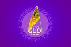 Gudi Padwa Marathi nowy rok obraz stock
