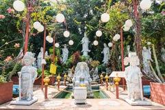 Gudinna av den förskoningGuan-Yin statyn Royaltyfria Foton