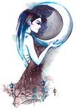 Gudinna av natten Arkivfoton