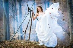 Gudinna av naturen fotografering för bildbyråer