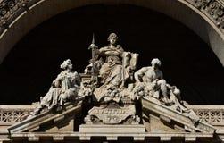 Gudinna av rättvisa med svärdet Fotografering för Bildbyråer