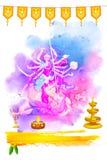 Gudinna Durga i lyckliga Navratri Arkivfoton