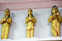 Gudinna och tempel Arkivfoto