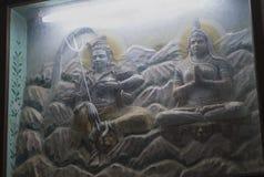 Gudinna Parvati och gud Shiva Murti i den Jaipur templet Royaltyfria Bilder