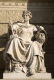 gudinna statuary vienna royaltyfri fotografi