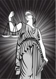 Gudinna Themis jämställdhet rättvisa domstol lag Royaltyfri Fotografi
