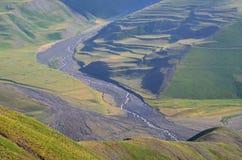 Gudiyalchay river and glacial valley near Shahdag National Park, Azerbaijan, in the Greater Caucasus range