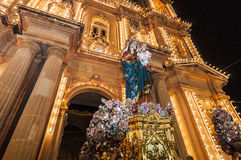 Santa Marija Assunta procession in Gudja, Malta. Stock Photography
