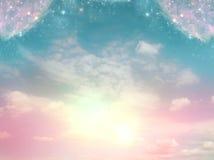 gudomlig sky Arkivfoton