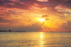 Gudomlig solnedgång av Tamsui Royaltyfri Fotografi