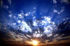 gudomlig soluppgång Fotografering för Bildbyråer