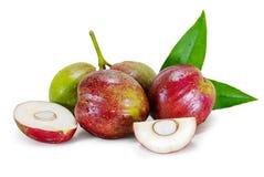 Guds kronafrukt, Mahkota frukt som isoleras p? vit arkivbild