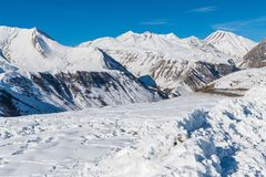 Guduari滑雪胜地,乔治亚 免版税库存照片