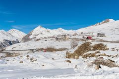 Guduari Ski Resort, la Géorgie Images libres de droits