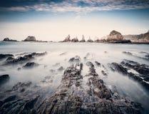 Gueirua beach in Asturias, Spain. Royalty Free Stock Photo