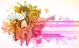 Gueixa com floral Imagem de Stock Royalty Free