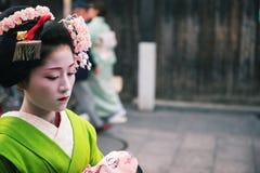 Gueixa em Gion Fotos de Stock Royalty Free