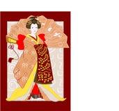 Gueixa japonesa tradicional Imagens de Stock