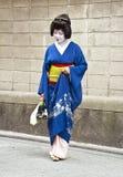 Gueixa no distrito de Gion em Kyoto, Japão Foto de Stock Royalty Free