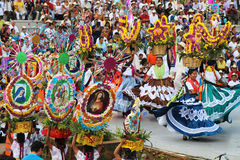 Guelaguetza节日,瓦哈卡, 2014年 免版税库存照片